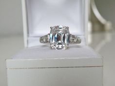 QVC Sterling Silver 925 5ct Diamonique DQ CZ Engagement Bridal Ring Size 9 #QVC#EngagementRing #BridalRing #PromiseRing #Diamond #Diamonique #QVC #JudithRipka #CZJewelry #PushPresent #QVCJewelry #DiamoniqueJewelry #WeddingRing #WeddingBand #PushPresent #BirthdayGift #ReplacementEngagementRing