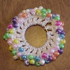 Easy Beaded Scrunchie - A free Crochet pattern from Julie A Bolduc.
