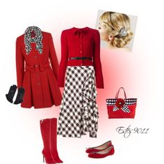 """""""Winter Gingham"""" by estes9011 on Polyvore"""