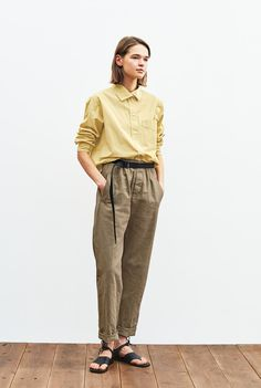 Margaret Howell, The Selection, Khaki Pants, Normcore, Spring, Models, Image, Women, Style