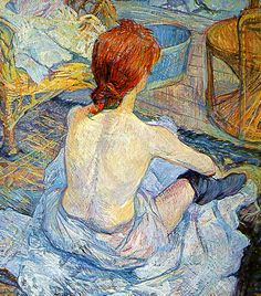 Henri de Toulouse-Lautrec, La Toilette, 1889. ✏✏✏✏✏✏✏✏✏✏✏✏✏✏✏✏  ARTS ET PEINTURES - ARTS AND PAINTINGS  ☞ https://fr.pinterest.com/JeanfbJf/pin-peintres-painters-index/ ══════════════════════  Gᴀʙʏ﹣Fᴇ́ᴇʀɪᴇ ﹕☞ http://www.alittlemarket.com/boutique/gaby_feerie-132444.html ✏✏✏✏✏✏✏✏✏✏✏✏✏✏✏✏