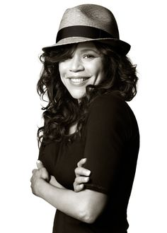 "Rosie Perez - portrait taken by the fashion photographer Albert Watson - Immigration Reform campaign ""Fedoras for Fairness"""