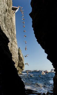 Cliff Diving is around the corner. #redbull #cliffdiving
