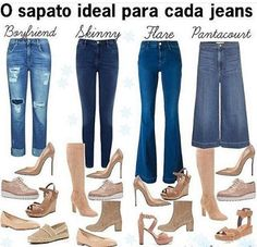✔ Dica super bacana de quais modelos de sapatos combinam com seu jeans preferido!! ✔👍👌 - - - - - Picture via @economicagirl - - - - - #looksparainspirar #styletips #shoes #euamojeans #coolhunter #minspira#inspiration #look#moda#modaemgrupo#modaparamulheres#modafeminina#instyle#style#mood#cool#lookemgrupo#Curitiba #fashion#fashionista#ootd#flow4flow#looksamigasdoinsta#blogger#comunidadeglamour#blogueirascariocas#desafiocomestilovestyou#lookemgrupooficial#streetsytle