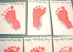 Cute Valentine's day idea - baby foot prints (gotta get on this!!!)