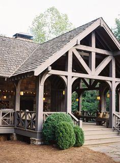 French Farmhouse, Farmhouse Style, Farmhouse Decor, Outdoor Restaurant Design, Farm Restaurant, Outdoor Pavillion, Timber Frame Homes, Outdoor Living, Outdoor Decor
