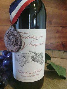 Award Wining Farmhouse Red from Thistlethwaite Vineyards, Jefferson PA
