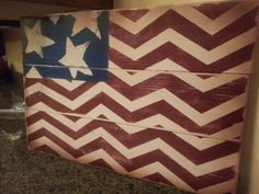 4th of july chevron flag.