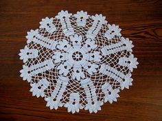 Vintage Bright White Cotton Doily  $4.00   #craftshout03/19