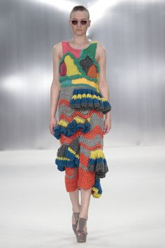De Montfort University graduate ready to wear collection - I don't think I would EVER be ready to wear this unless it had something to do with being stranded on an island at one of the poles