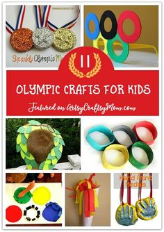 The Best Olympic Crafts Ideas for kids - Activities & Ideas for Winter Olympics - Olympic Ring Printing, Flags, medals, Olympic Rings, Olive Leaf Crown. Summer Arts And Crafts, Spring Crafts For Kids, Crafts For Kids To Make, Diy Crafts For Kids, Easy Crafts, Kids Diy, Decor Crafts, Toddler Art Projects, Craft Projects For Kids