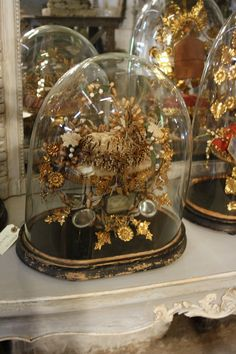 Eye For Design: Decorating Under Glass With Cloches And Domes Victorian Parlor, Victorian Life, Floral Bouquets, Wedding Bouquets, The Bell Jar, Bell Jars, Cloche Decor, Victorian Crafts, Vases