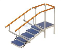 2 handrails one-sided straight type rehabilitation staircase 01337 Chinesport