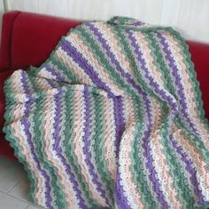 Granny's Starburst Crocheted Afghan by OneCreativeFamily on Etsy
