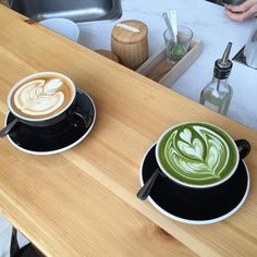 Latte & Matcha Latte at #Chalait NYC