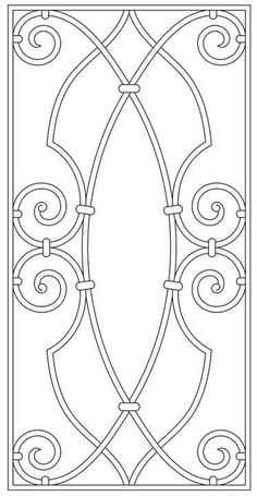 Design Library | Tableaux® Decorative Grilles for Residential Design Faux Stained Glass, Stained Glass Patterns, Oster Dekor, Stencil Designs, Colouring Pages, Ceiling Design, Rug Hooking, Hobbies And Crafts, Line Art