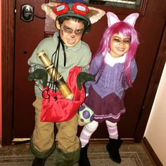 For Halloween day I made the two look a little scarier but not too scary because  sc 1 st  Pinterest & Landon acting as Teemo (from League of Legends) hiding behind the ...
