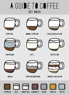 A guide to coffee!  Come to Bagels and Bites Cafe in Brighton, MI for all of your bagel and coffee needs! Feel free to call (810) 220-2333 or visit our website www.bagelsandbites.com for more information!