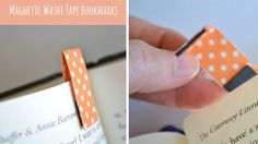 marque page magnétique masking tape