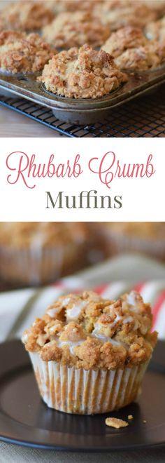 Rhubarb Crumb Muffin