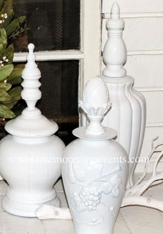 Re-purposed Lamps and Vase for Home Decor Accent Piece at One More Time Events.com
