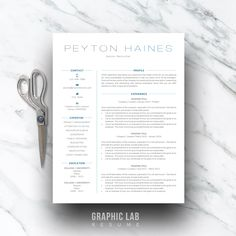 2 Page Resume Sample Glamorous Resume Template One Page  Curriculum Vitae  One Page Resume  Two .