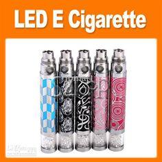 Wholesale Electronic Cigarette - Buy Diamond Led Battery for EGO Electronic Cigarette, Crystal Decoration Colorful E Cig Battery 650mAh 8605...