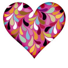 Pink Heart With Colorful Vines Icon, PNG ClipArt Image | IconBug.com