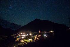 Night at Ushguli, Georgia