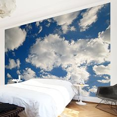 Non-woven Wallpaper - In Blue Heaven - Mural Wide wallpaper wall mural photo feature wall-art wallpaper murals bedroom living room apalis http://www.amazon.com/dp/B014LY9NXK/ref=cm_sw_r_pi_dp_X2A8wb18ZNVBZ