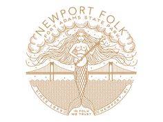 Newport Folk art print by Brian Steely