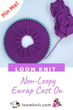 Loom Knit Non-Loopy ewrapYou can find Loom knitting and more on our website.Loom Knit Non-Loopy ewrap Loom Knitting Blanket, Round Loom Knitting, Loom Knitting Stitches, Loom Knit Hat, Knifty Knitter, Loom Knitting Projects, Knitted Hats, Free Knitting, Cross Stitches
