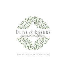 Olive Branch Logo-Nature Logo-Laurel Logo-Organic Logo-Beauty