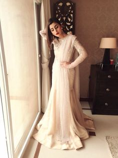 Pakistani actress Sohai Ali Abro wearing Zara Shahjahan for her movie, Wrong No's promotion.