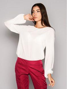 Blusa blanca. Blusa de la oficina. Blusa de mujer por Annaclothing