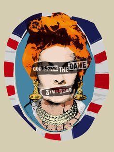 Pop Punk Vivienne (God Save The Dame, 2016) - Vivienne Westwood Pop Art Portrait - Editions - Big Fat Arts | BFA Gallery | Czar Catstick - 1