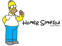 Homer Simpson drawn by me :)
