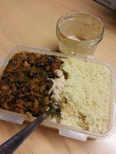 Großartiges Abendessen bei Tanja: Kichererbsen-Bohnen-Chili mit Couscous Davon hätte ich jetzt gerne eine große Portion!