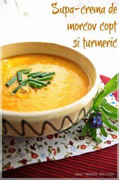 Incep cu concluzia: cred ca aceasta este cea mai buna supa-crema pe care am facut-o vreodata. Si am facut multe! Nu stiu exact de la ce, de la legumele coapte, de la turmeric, dar as manca zilnic asa ceva! (adsbygoogle = window.adsbygoogle || []).push({}); Ingrediente 1 ceapa 5 catei de usturoi 3 morcovi mari 2 … Vegetarian Recipes, Cooking Recipes, Healthy Recipes, Romanian Food, Romanian Recipes, Gordon Ramsey, Pastry Cake, Vegan Life, Bacon