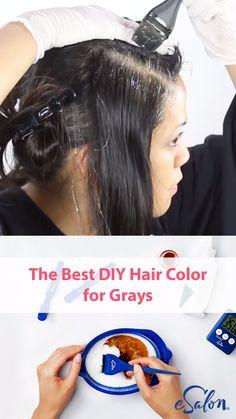 Diy Hair Dye, Best Hair Dye, Dyed Hair, Dye Hair Gray, Grey Hair Video, Diy Haarfärbemittel, Diy Crafts, Shampoo For Gray Hair, Hair Colour Design