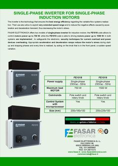 SINGLE-PHASE INVERTER FOR SINGLE-PHASE INDUCTION MOTORS (www.fasarelettronica.com).
