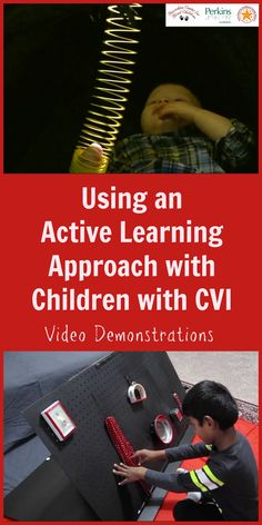 an Active Learning approach with learners with CVI (Cortical Visual Impairment): video demonstrations Sensory Activities, Classroom Activities, Learning Activities, Classroom Ideas, Visually Impaired Activities, Multiple Disabilities, Learning Disabilities, Cause And Effect Activities, Pediatric Occupational Therapy