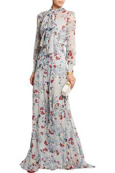 Erdem Nellie floral-print silk-chiffon gown