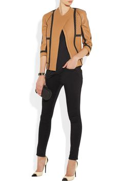 Frame Denim Le Luxe Noir stretch-satin twill skinny jeans NET-A-PORTER.COM