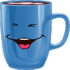 Tasse_Gesicht_blau You are in the right place about GIF illustration Here we offer you the most beautiful pictures about the GIF you are looking for. When you examine the Tasse_Gesicht_blau part of th Good Morning My Friend, Good Morning Gif, Good Morning Greetings, Morning Images, Animated Emoticons, Funny Emoticons, Animated Gif, Morning Coffee Funny, Morning Humor