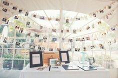 Cute wedding table set up