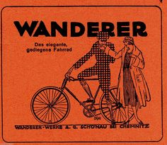 1922 Wanderer Das elegante Fahrrad 9x10 cm original Printwerbung Reklame   eBay