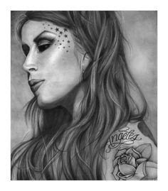 The Amazing Kat Von D...... Illustrator...... Pentool..... Mouse Pad.......
