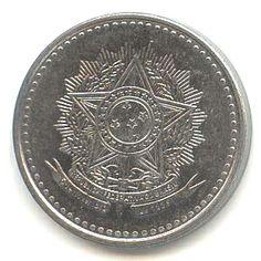 1 Cruzado #Brazile - 1986-1988 raffigura lo stemma dello Stato.