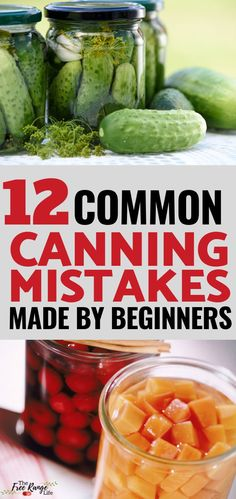 Canning- Are you a beginner when it comes to making canning recipes? Are you making any of these costly canning mistakes? Read more on the 12 common mistakes made my food preservation beginners Pressure Canning Recipes, Canning Tips, Home Canning, Easy Canning, Pressure Cooking, Water Bath Cooking, Canning Vegetables, Veggies, Canning Granny